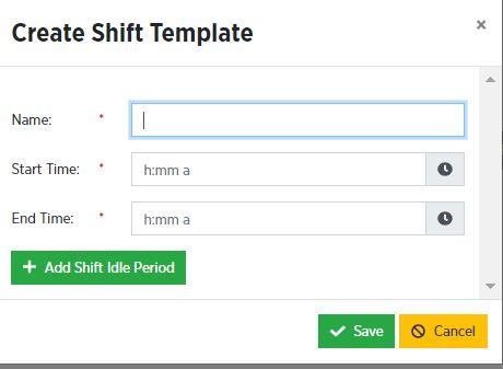 create a shift template