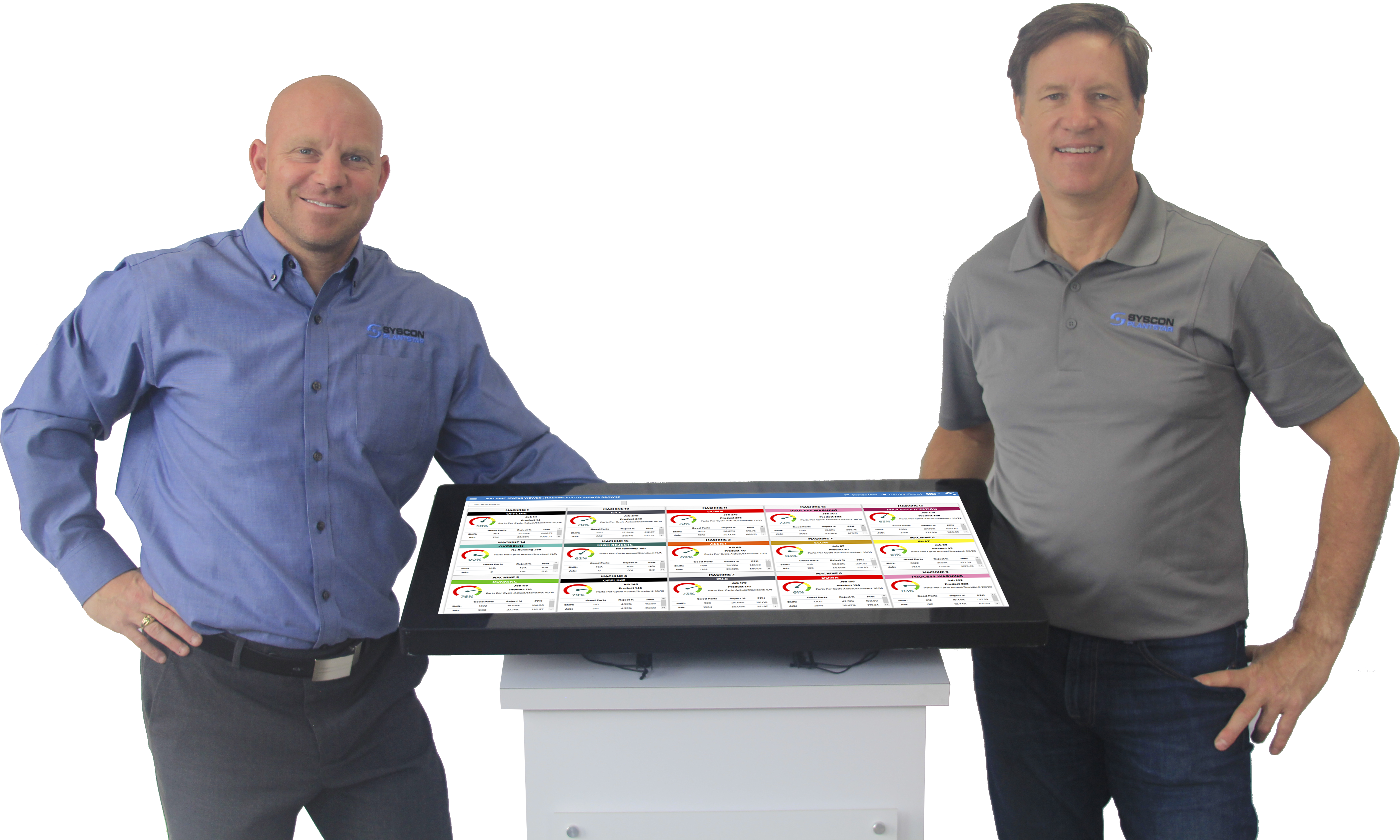 Tom and Dave with large HMI